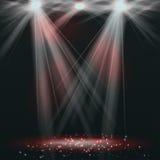 Spotlights on stage with smoke & light Stock Image