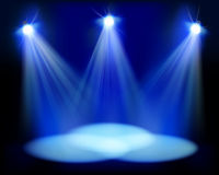 Spotlights on the stage. Vector illustration. Stock Images