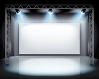 Spotlights on the stage. Vector illustration. Stock Photos