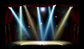 Spotlights Theater Stage Royalty Free Stock Photography