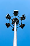 Spotlights tower Royalty Free Stock Images