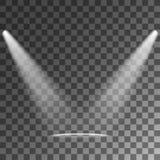 Spotlights   Vector Light Effects Stock Photography