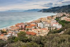 Spotorno. Is an unique village in Liguria, Italy. A nice town on the sea stock photography