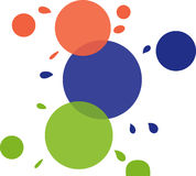 Spots. Colorful spots Stock Images