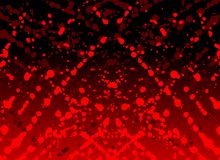 Spots of blood in red tones. Image representing some spots of color red the recall the blood on an abstract background Stock Photo