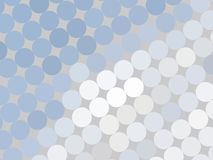 Spots on grey. Blue, grey and whit spots on light grey stock illustration