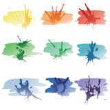 Spots of a paint Stock Images