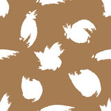 Spots painted watercolor brush. Seamless pattern. Grunge. Royalty Free Stock Photography