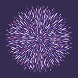 Magic circle made of splash, spatter, long drops, splatter. Magic circle made of uneven long sparks, rays, drops, droplets, raindrops. Round firework, salute stock illustration