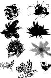 Spots, smears blots royalty free stock images