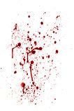 Spots and splashes of blood Royalty Free Stock Photo