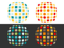 Spots and squares Royalty Free Stock Images