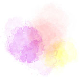 Spots of watercolor. Bright spots of watercolor paint of different colors on a white background isolated Royalty Free Stock Photo