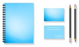 Spott aufgestellt mit Notizbuch, Broschüre Lizenzfreies Stockfoto