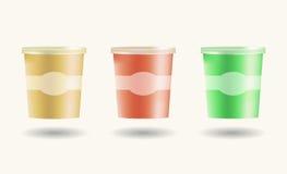 Spott-aufgestellter Lebensmittel-Plastikwannen-Eimer-Behälter für Stockbilder