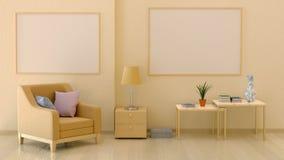 Spott herauf Plakate im Innenraum in den warmen Farben lizenzfreie abbildung
