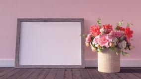 Spott herauf Rahmenhippie-Hintergrund 3d übertragen Illustration 3d Stockfotografie
