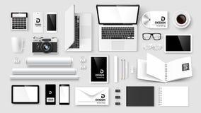 Spott stellte von der Unternehmensidentitä5 und vom Branding auf Lizenzfreies Stockfoto