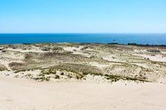 spottar det curonian havet för den baltiska kusten Arkivfoton