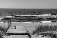 spottar det curonian havet för den baltiska kusten Nida Litauen, europeisk union Arkivfoton