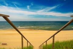 spottar det curonian havet för den baltiska kusten Nida Litauen, europeisk union Royaltyfria Foton