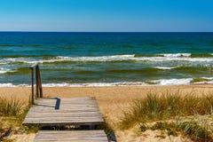 spottar det curonian havet för den baltiska kusten Nida Litauen, europeisk union Fotografering för Bildbyråer