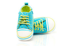 Spotted Baby Sneakers Stock Photography