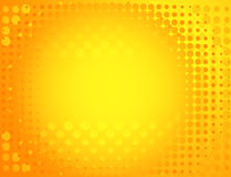 Spotted background in yellow. Stock Image