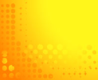 Spotted background in yellow Royalty Free Stock Image