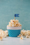 Spotted Bowl of Popcorn. Royalty Free Stock Photography