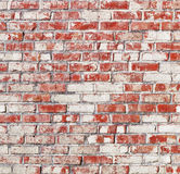 Spotted brick wall. Close up of a spotted brick wall Royalty Free Stock Photography