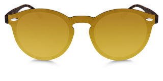 Spotted brown sunglasses golden mirror lenses isolated on white Royalty Free Stock Photography