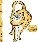 Spotted Cat. Feed Me Cat Royalty Free Illustration