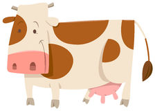 Spotted cow cartoon animal Royalty Free Stock Photos