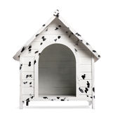 Spotted Dog kennel, isolated. On white Stock Photos