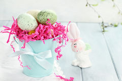 Spotted Easter Eggs Royalty Free Stock Photo