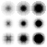 Spotted halftone. Design halftone elements,  backgrounds Stock Photography