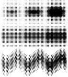 Spotted halftone  Royalty Free Stock Images
