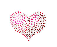 Spotted heart Royalty Free Stock Photo