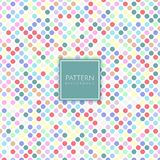 Spotted pattern background. Cute background with a polka dots design royalty free illustration