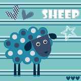 Spotted sheep lamb vector illustration Stock Photos