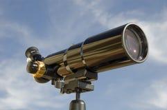 Spotting Scope, Front-Side View. Black spotting scope / telescope, front-side view Royalty Free Stock Image