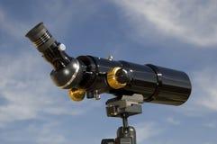 Spotting Scope, Rear-Side View. Black spotting scope / telescope, rear-side view Royalty Free Stock Images