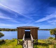 Spotting. Wildlife spotting cabin, at Santa Maria de Aguiar, Portugal Royalty Free Stock Photo