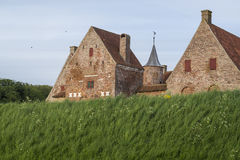 Spottrup castle. In Denmark - little ancient part of medieval times Royalty Free Stock Image