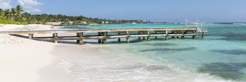 Spotts Beach Pier Panorama Stock Photography