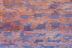 Spotty bakstenen muur Royalty-vrije Stock Afbeelding