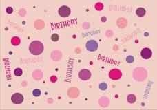 Spotty Birthday Banner Royalty Free Stock Photo