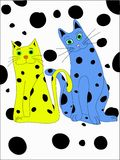 Spotty Cats Stock Photo