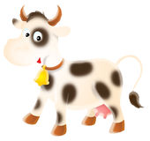 Spotty cow Stock Image